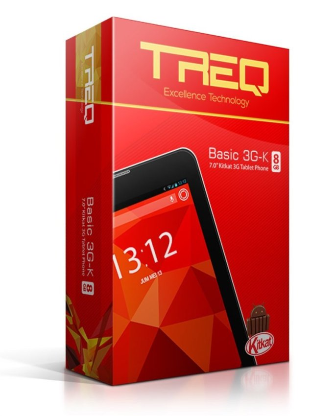 Treq Basic 3GK IPS - 8GB - Hitam