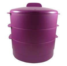Tupperware Steam it - 3 Tingkat - Ungu