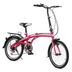"""Twist Folding Bike 6SP Sepeda Lipat 20"""" - Pink"""