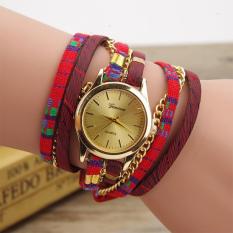 UINN New Fashion Ethnic Ladies Leather Bracelet Casual Luxury Quartz Wrist Watch