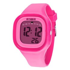 UJS Unisex Silicone Strap Digital LED Light Sports Watch - Pink