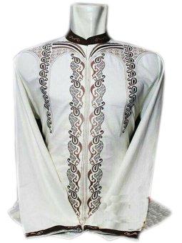 Ukhuwah Baju Koko Bordir Casual 2016 Putih Lazada