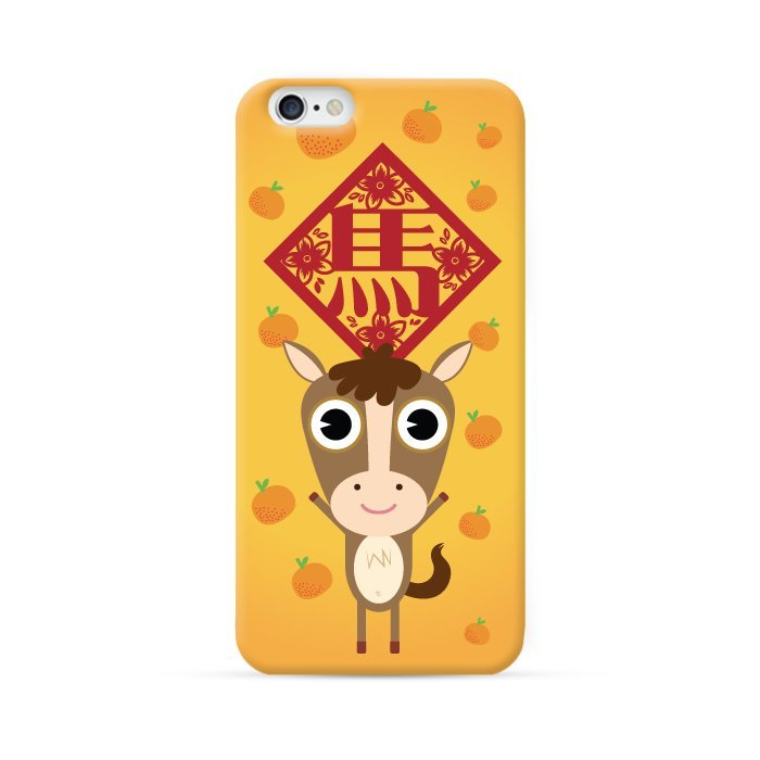 Ultra Case iPhone 4/4S Hard Case Chinese Zodiac Series Year of Horse Orange