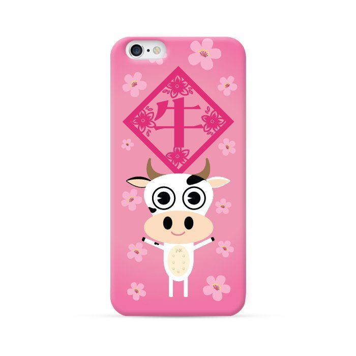 Ultra Case iPhone 6 Hard Case Chinese Zodiac Series Year of Buffalo Pink