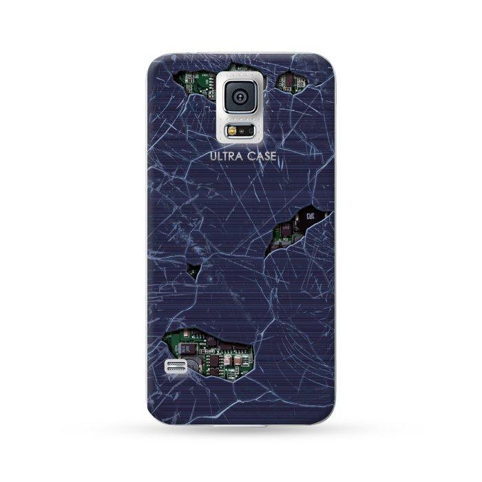 Ultra Case Samsung Galaxy S5 Hard Case Break Series Black Circuit 02