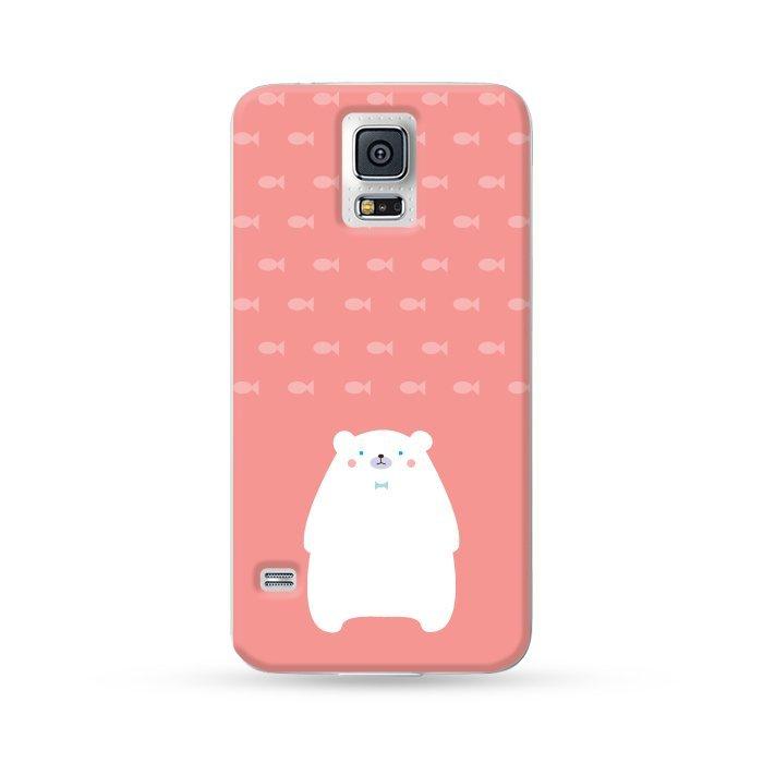 Ultra Case Samsung Galaxy S5 Hard Case Polar Bear Red