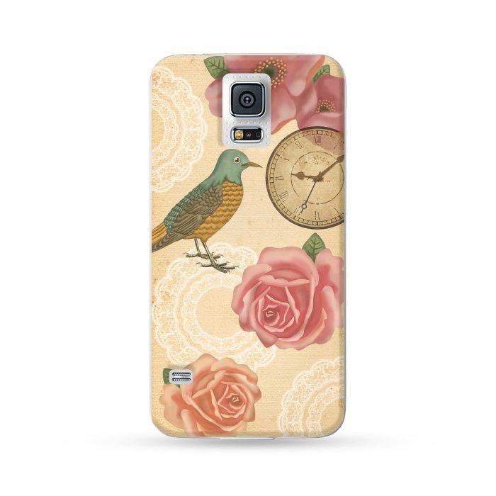 Ultra Case Samsung Galaxy S5 Hard Case Vintage Style Pink