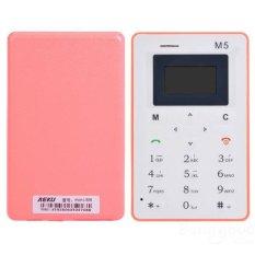 Ultra Thin AIEK M5 Card Mobile Phone Mini Pocket GSM Children Card Phone (Red)