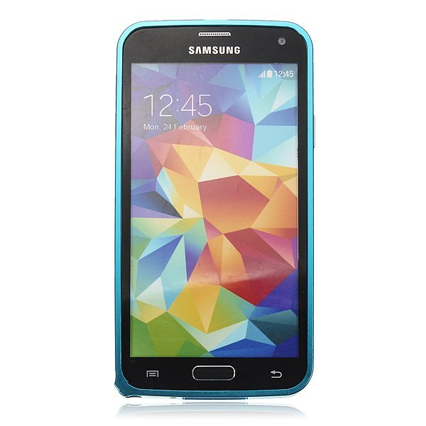 Ultra Thin Aluminum Metal Bumper Frame Case for Samsung Galaxy S5 i9600 G900 (Sky blue) (Intl)