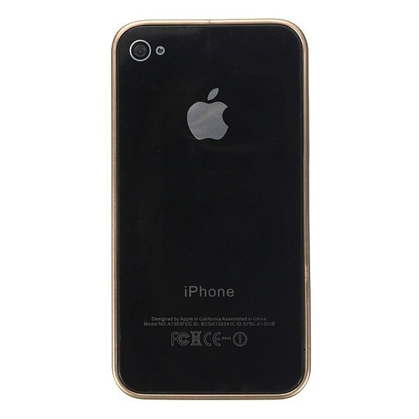 Ultra-thin Metal Aluminum Frame Bumper Hard Case for iPhone 4/4S/5/5S (Champagne) (Intl)