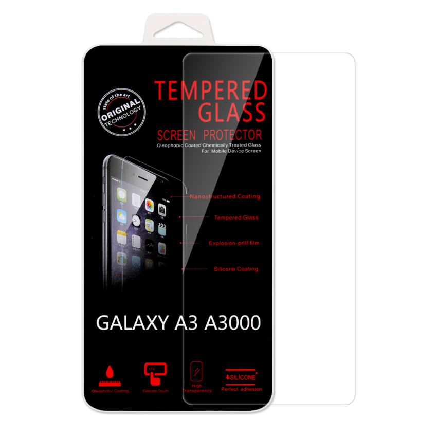 Ultra Thin Premium 9H Hardness Tempered Glass Screen Film Protector Guard for Samsung Galaxy A3 (Intl)