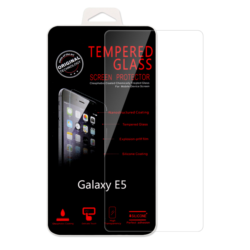 Ultra Thin Premium 9H Hardness Tempered Glass Screen Film Protector Guard for Samsung Galaxy E5 (Intl)