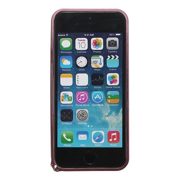Ultra Thin Slim Aluminum Metal Frame Blade Bumper Case for iPhone 5 5s (Pink) (Intl)