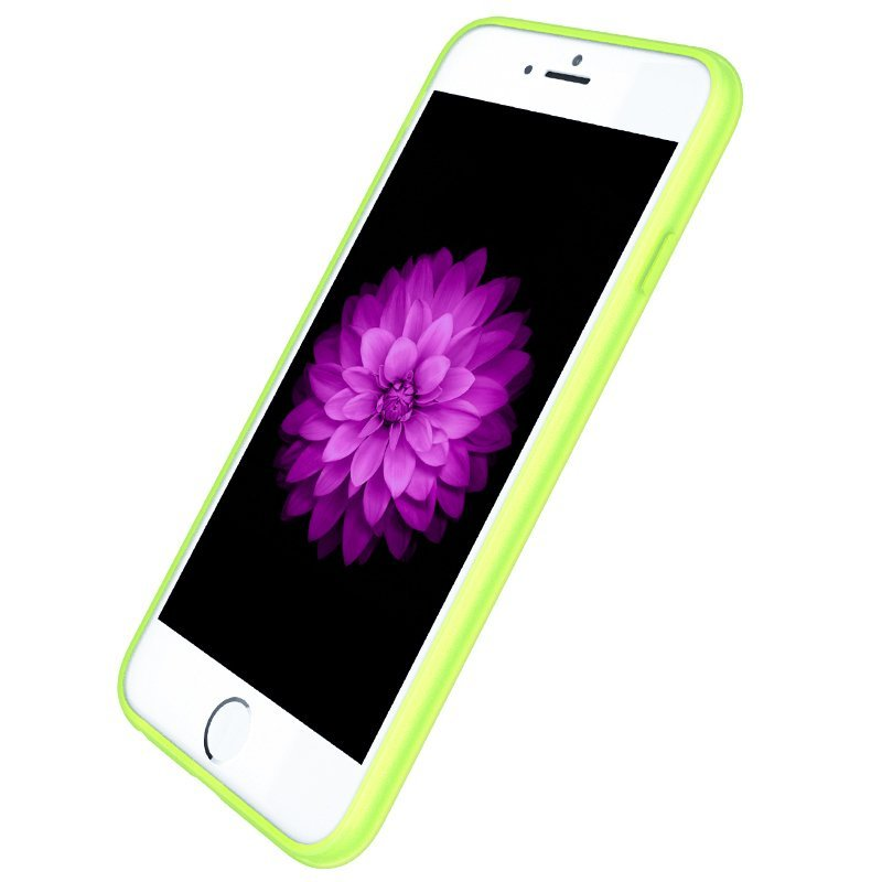 Ultra Thin Slim Matte frosting Transparent Protective Cover Case for iPhone 5/5S Moblie Phone Shell/Cases Transparent + green (Intl)