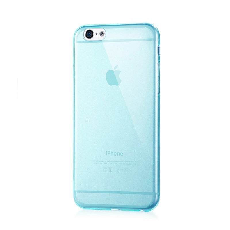 Ultra Thin Soft TPU Transparent Case For iPhone 5/5S Blue (Intl)