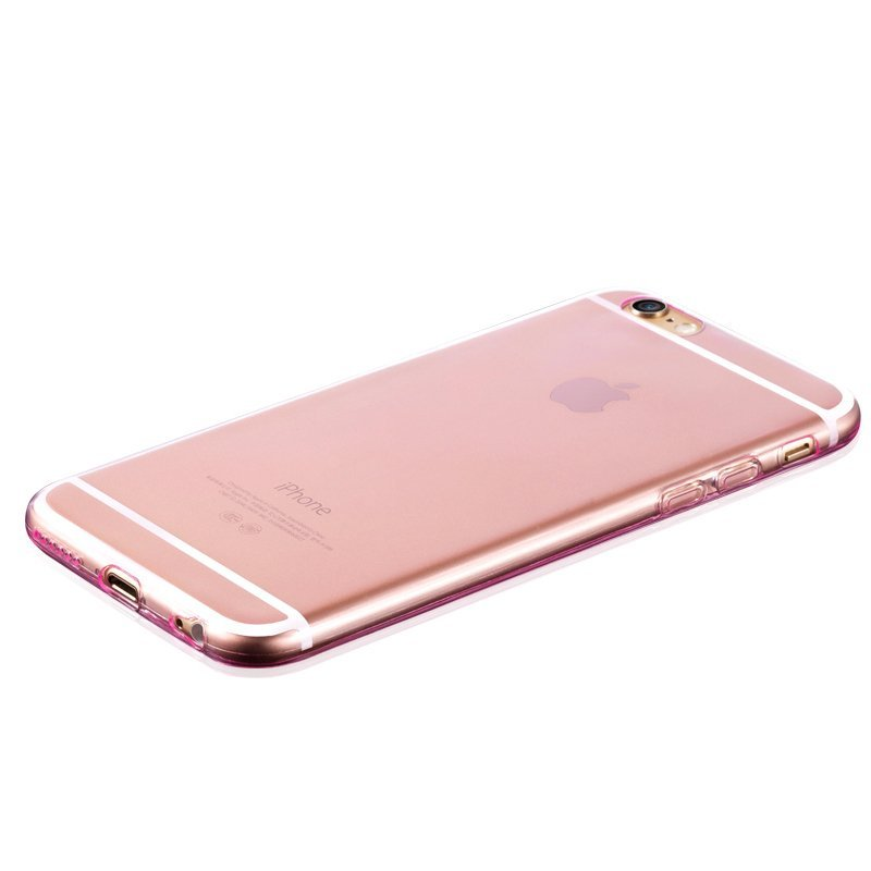 Ultra Thin Soft TPU Transparent Case for iPhone 5/5S Pink (Intl)
