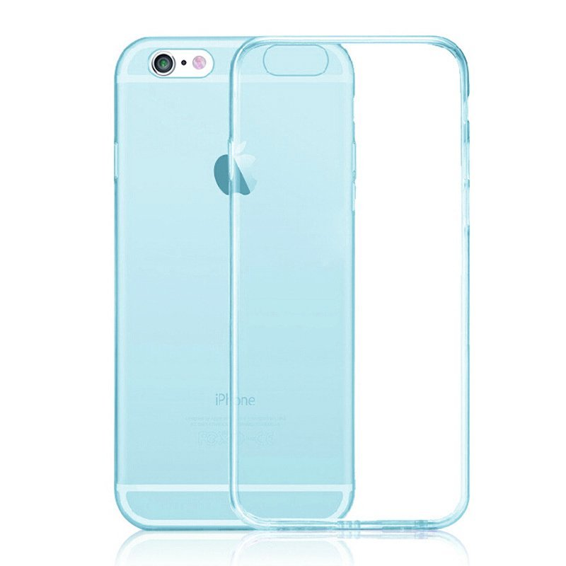 Ultra Thin Soft TPU Transparent Case for iPhone 6 plus /6S Plus Blue (Intl)