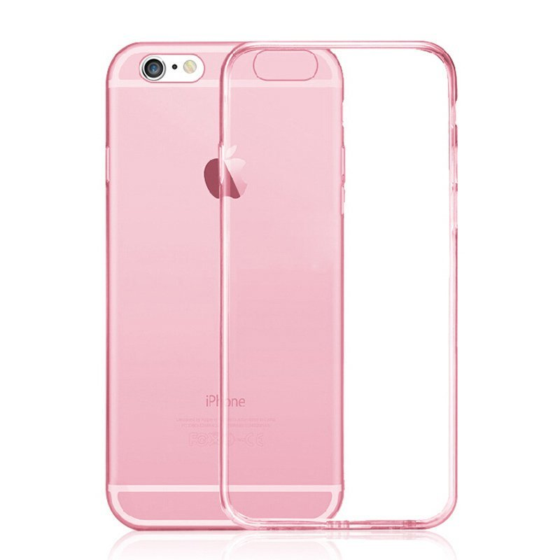 Ultra Thin Soft TPU Transparent Case for iPhone 6 Plus /6S Plus Red (Intl)