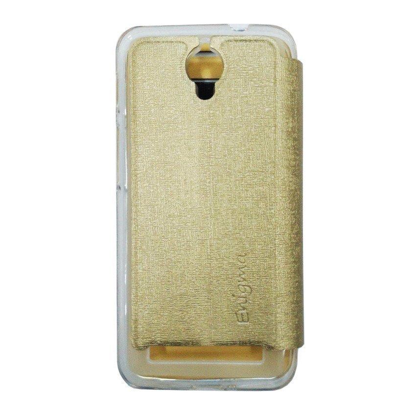 Uma Flip Cover View Asus Zenfone C - Gold