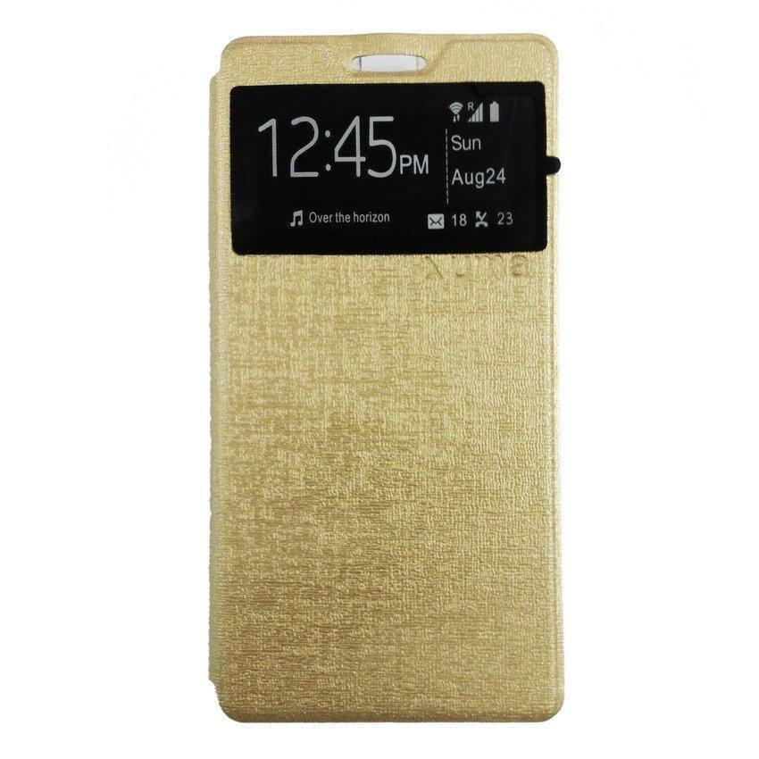 Uma Leather Case Lenovo A6000 - Gold