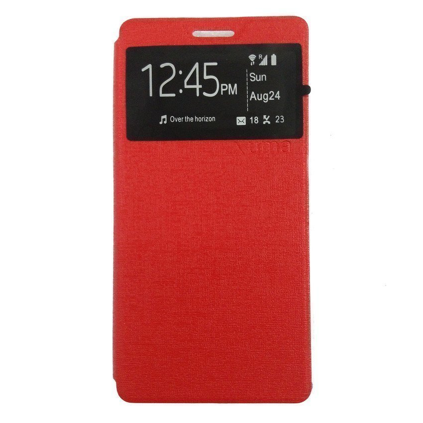 Ume flip Cover for Andomax Q -Merah