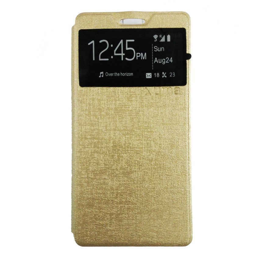 Ume Flip Cover For Asus Zenfone Go 4.5 Inch - Gold