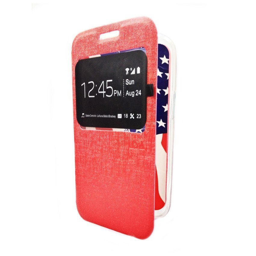 Ume Flip Cover For Samsung Galaxy J1 - Merah