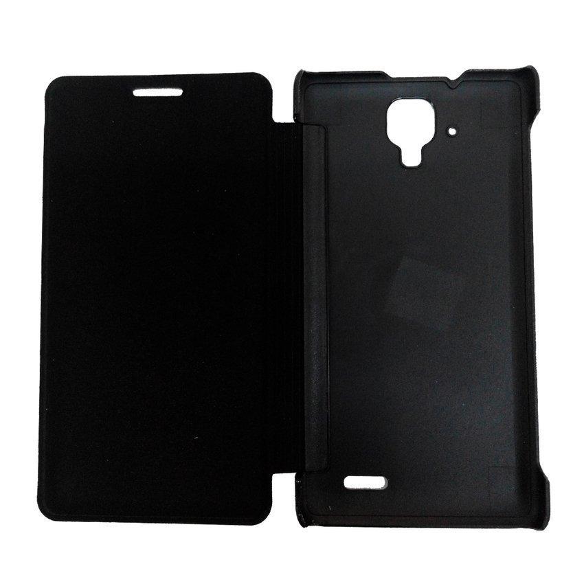 Ume Flip Cover Lenovo A536 - View Design - Hitam