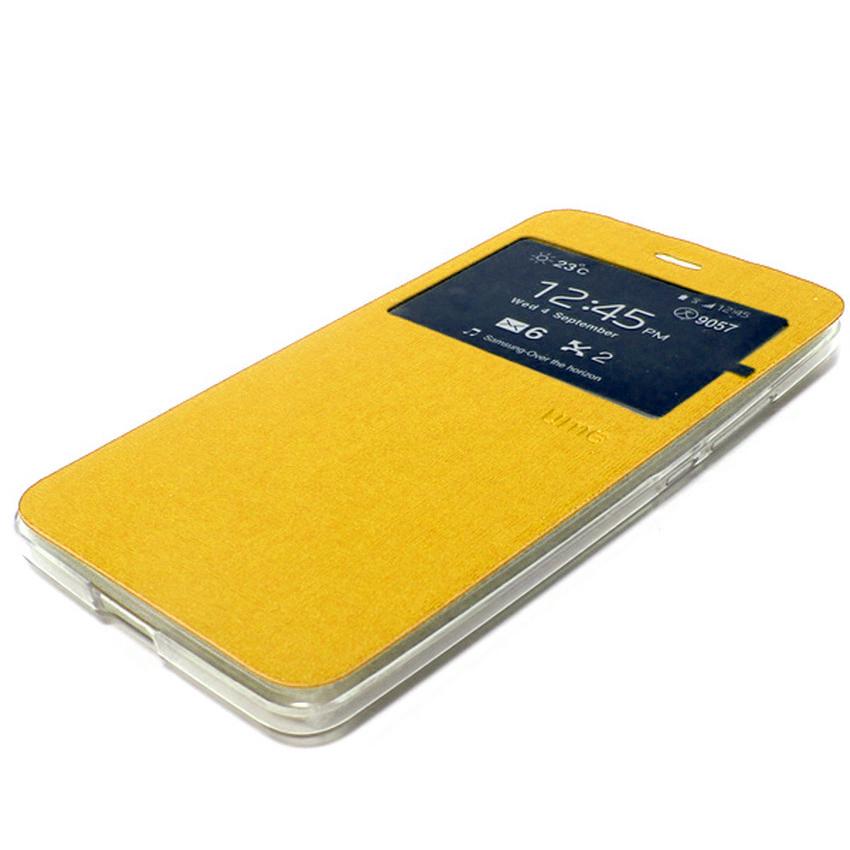 Ume Flip Cover Untuk Samsung Galaxy J1 2016- Emas