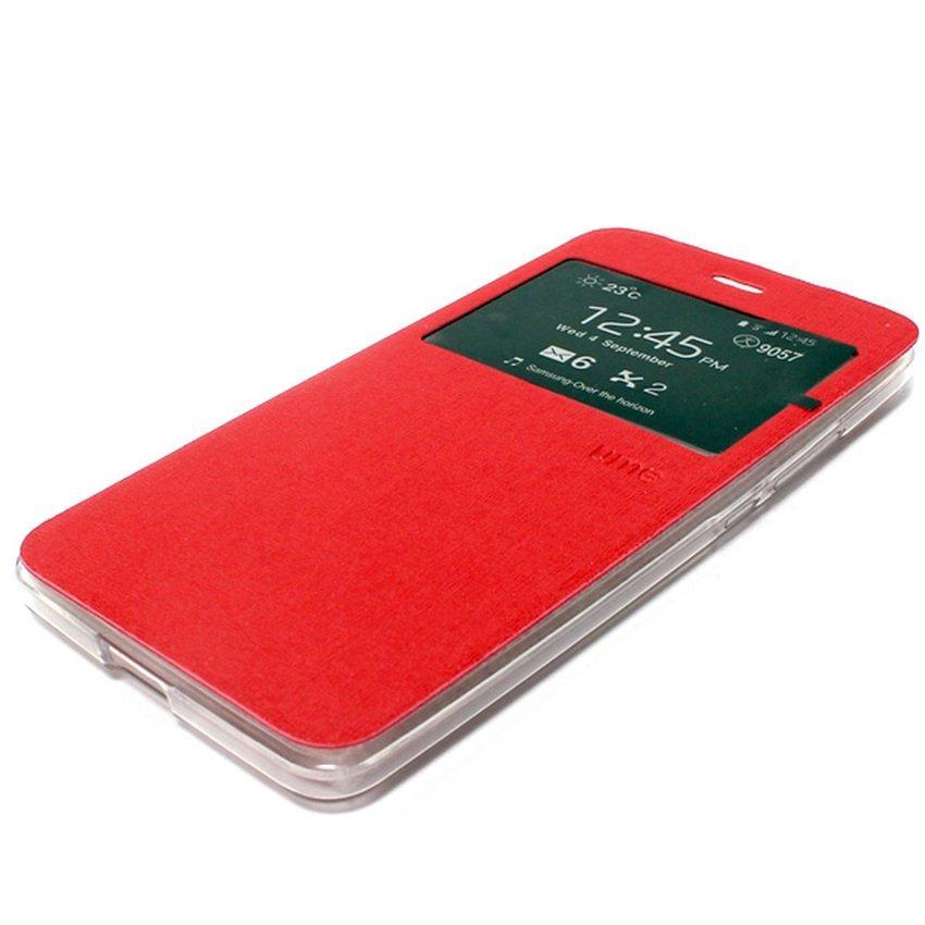 Ume Flip Cover Untuk Samsung Galaxy J1 2016- Merah