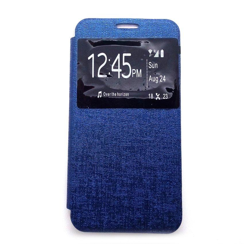 Ume Flip Cover Untuk Samsung Galaxy S7- Biru Dongker