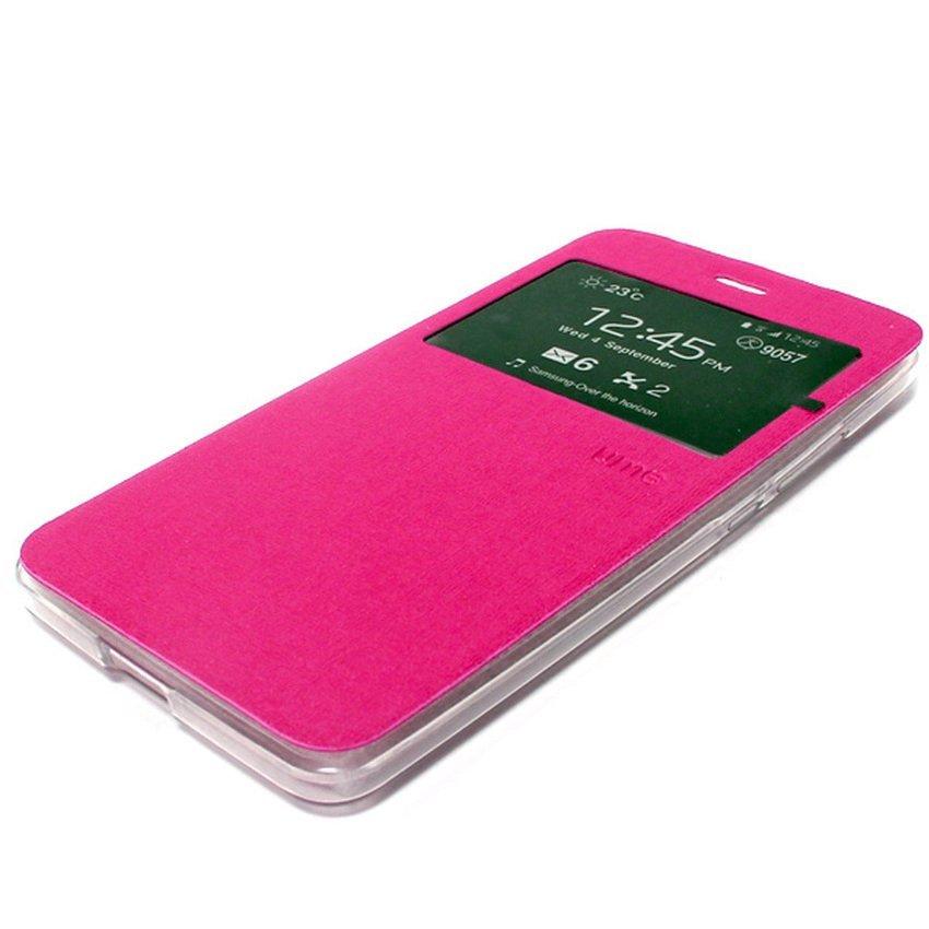 Ume Flip Cover untuk Xiaomi Mi4i - Pink + Gratis Tempered Glass
