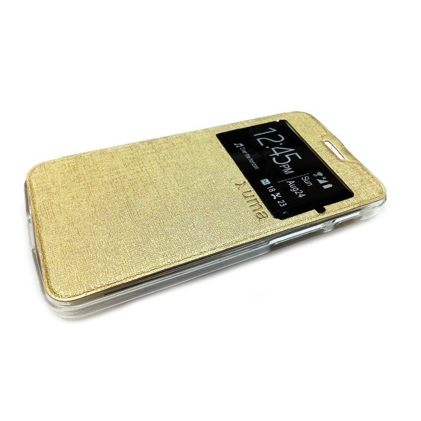 Ume Flip Cover View Asus Zenfone C - Gold