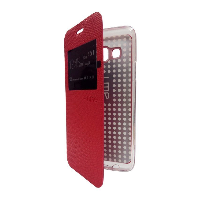 Ume Flip Cover View for Samsung Galaxy A3 - Merah