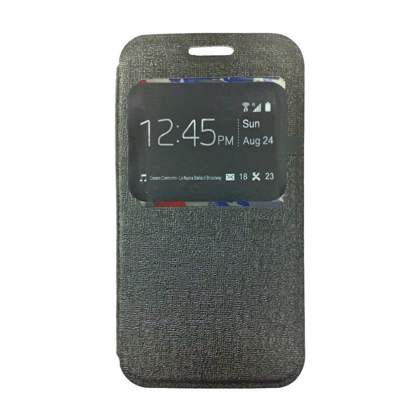 Ume Flip Cover View for Samsung Galaxy J1 - Hitam