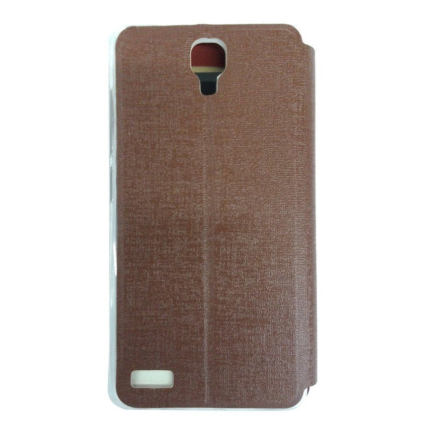 Ume Flip Cover View for Xiaomi Redmi Note - Cokelat