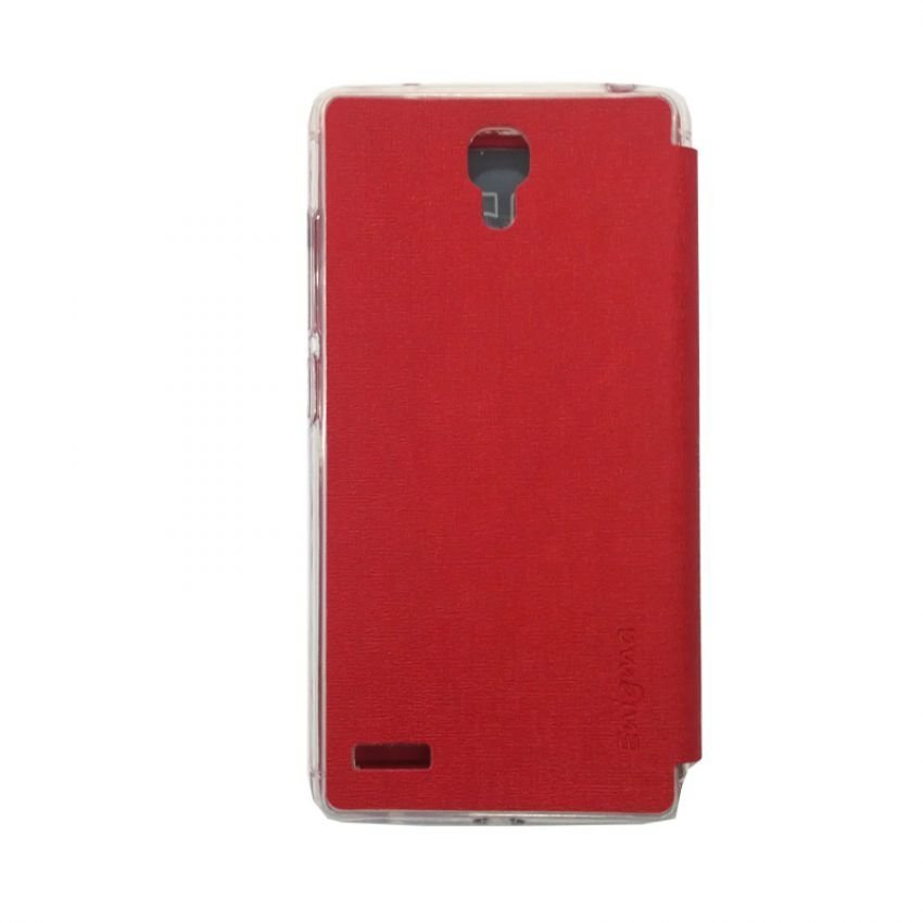 Ume Flip Cover View For Xiaomi Redmi Note - Merah
