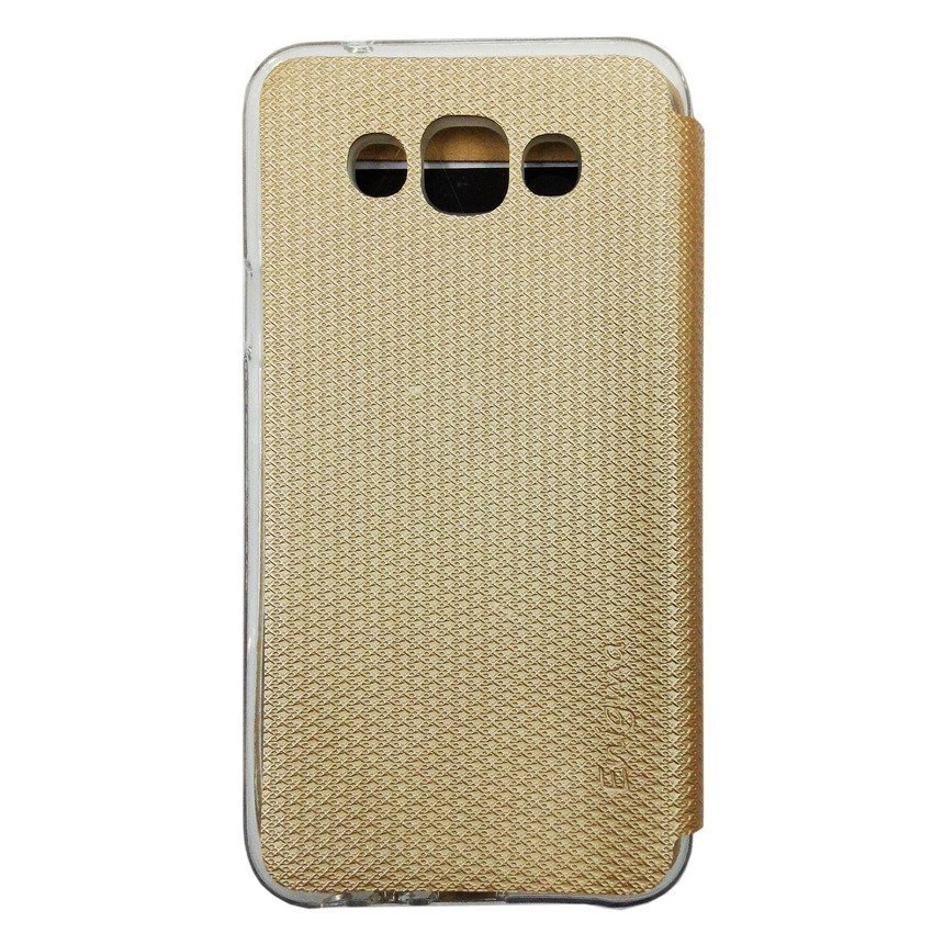Ume Flip Cover View Samsung Galaxy E7 - Gold
