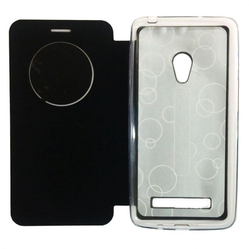 Ume Leather Case Asus Zenfone 5 - Hitam