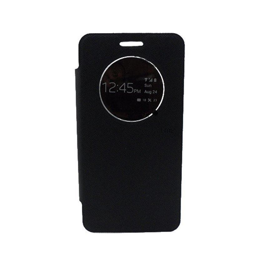 Ume Leather Case View Asus Zenfone 6 - Hitam