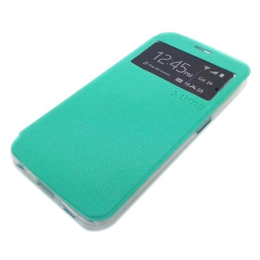Ume Samsung Galaxy J1 Flip Cover View - Hijau Tosca