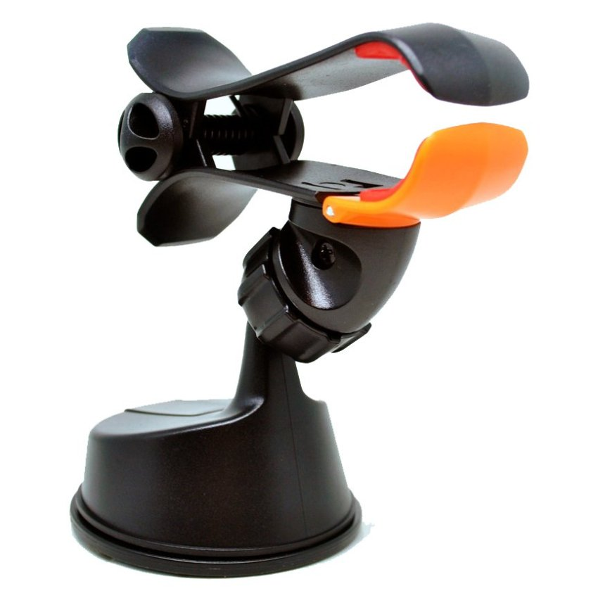 Universal 360 Rotation Car Suction Cup Smartphone Holder - Hitam