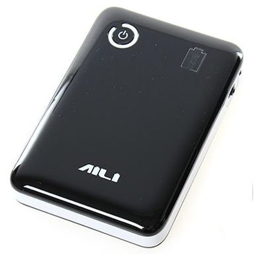 Universal AILI DIY Exchangeable Cell Power Bank Case For 4Pcs 18650 - Hitam Putih
