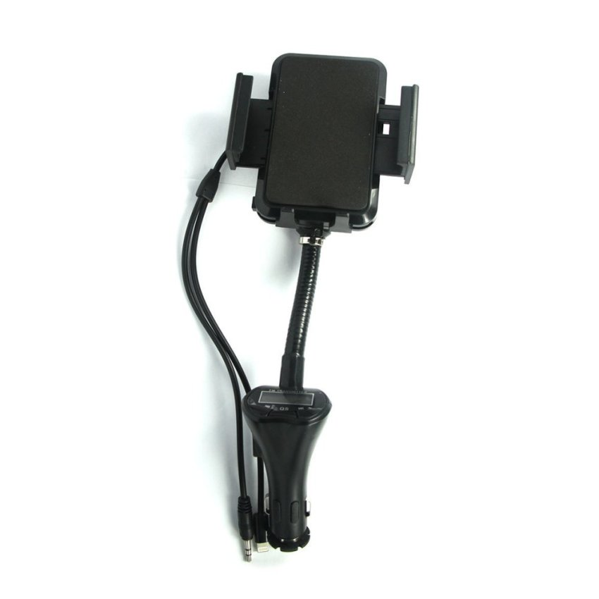 Universal Auto Charger Phone Holder FM Transmitter 3 in 1 (Intl)