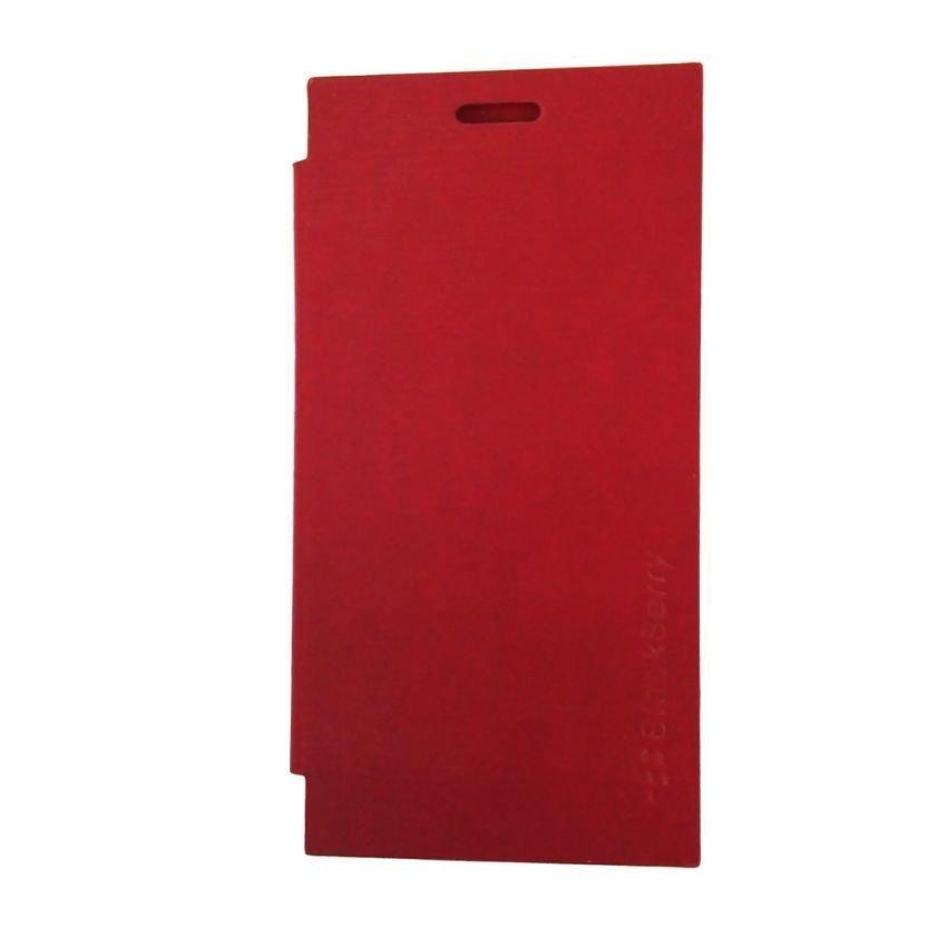 Universal Blackberry Flip Cover Z3 - Merah Muda