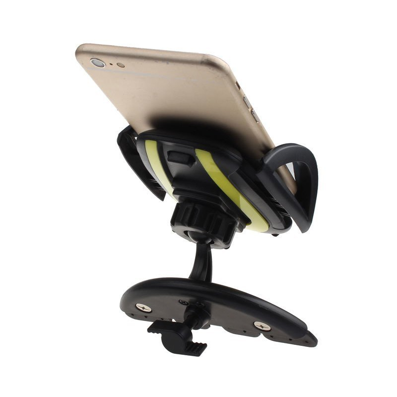 Universal Car CD Slot Phone Holder Stand for iPhone (Yellow)