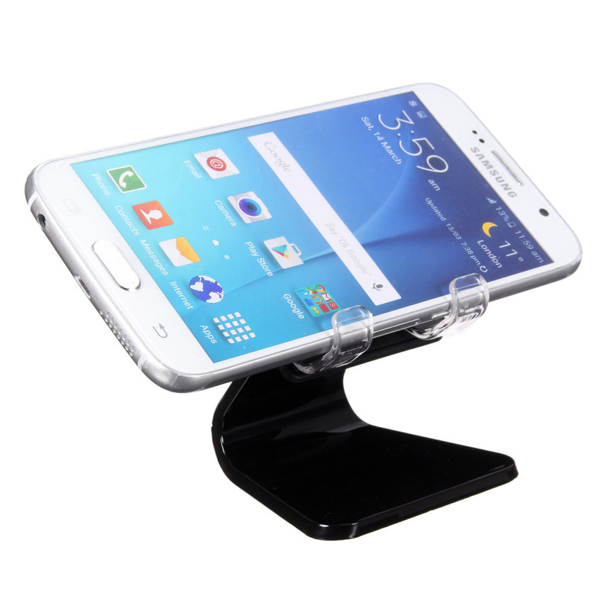 Universal Car Desk Phone Mount Cradle holder Stand for iPhone 6 Plus Samsung S6 Black (Intl)