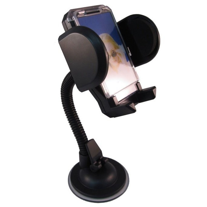 Universal Car Holder for Mobile Phone - Tripod-4 - Hitam
