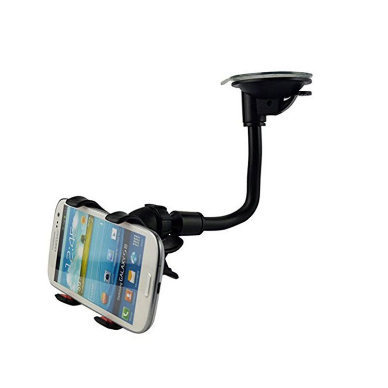 Universal Car Mount Holder for Sony Xperia Z3/Z2/Z1 for Nokia/Motorola/Blackberry Double Clip 360 Degree Rotation Phone Stand (Black) (Intl)