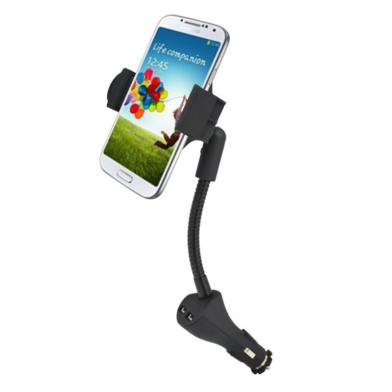 Universal Car Phone Holder Dual USB Charger For Samsung S4 Iphone6 5s 4 5 Note 2 Sony Xperia Nexus